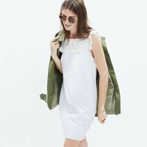 Madewell White Cotton Embroidered Dress Size 6